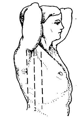 Топографічні лінії на боковій поверхні грудної клітки